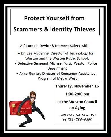 Weston COA Talk:  Scammers