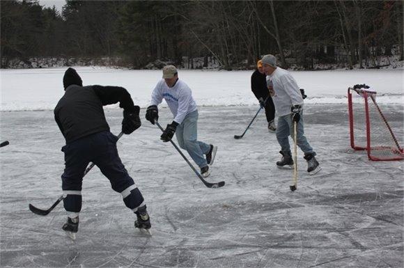 College Pond Hockey